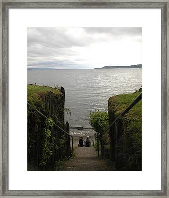 Take In The View Framed Print