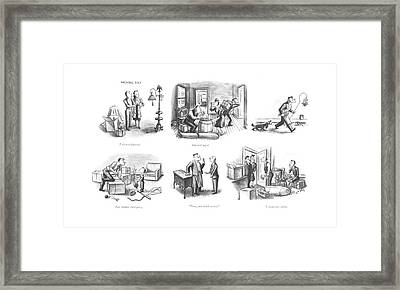 Take It Or Leave It?  Hurried Snack  Last-minute Framed Print by William Steig
