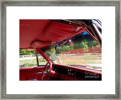 Framed Print featuring the digital art Take Me Back To Yesterday by Angelia Hodges Clay
