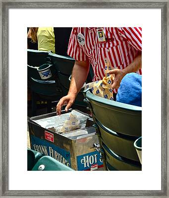Take Me Out To The Ball Game Framed Print by Frozen in Time Fine Art Photography