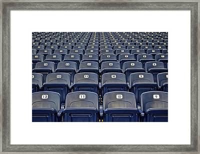 Take Me Out To The Ballgame Framed Print by Frozen in Time Fine Art Photography