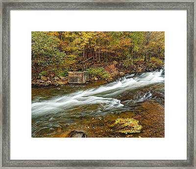 Take Me To The Other Side Beaver's Bend Broken Bow Lake Flowing River Fall Foliage Framed Print