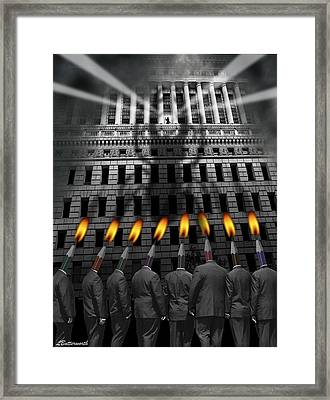 Take Me To Your Leader Framed Print by Larry Butterworth