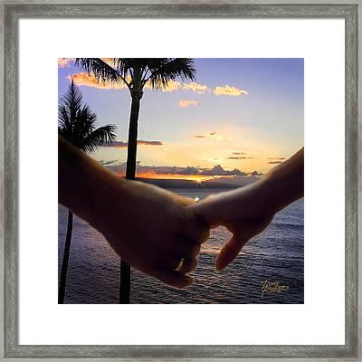 Take My Hand Framed Print