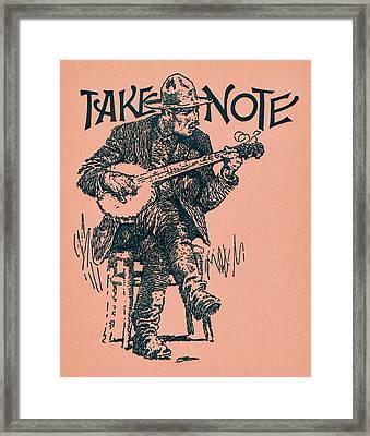 Take Note Framed Print