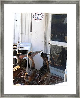 Take-out Parking Framed Print