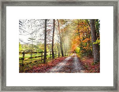 Take The Back Roads Framed Print
