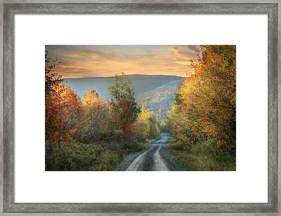 Take The Back Roads Framed Print by Lori Deiter
