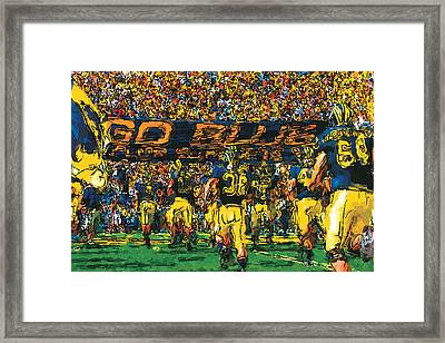 Take The Field Framed Print