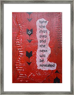 Take The First Step Framed Print by Gillian Pearce