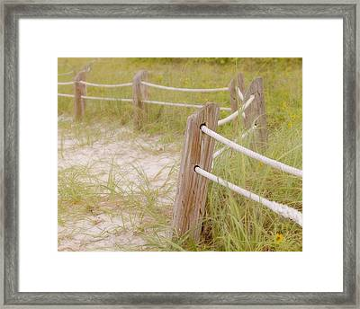 Take The Gentle Path Framed Print by Kim Hojnacki