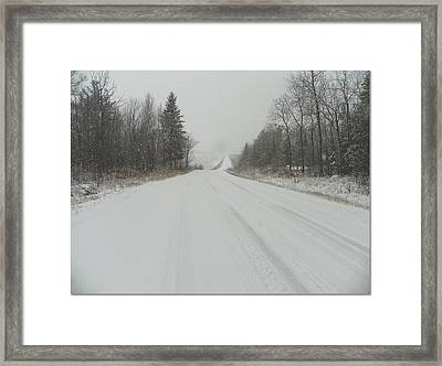 Take The Long Road Home Framed Print by Dianne  Lacourciere
