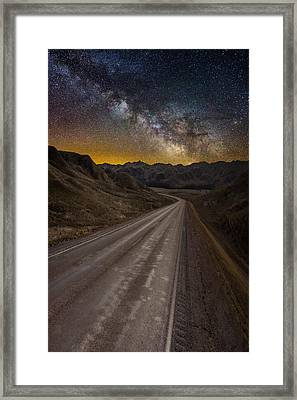 Take The Long Way Home Framed Print by Aaron J Groen