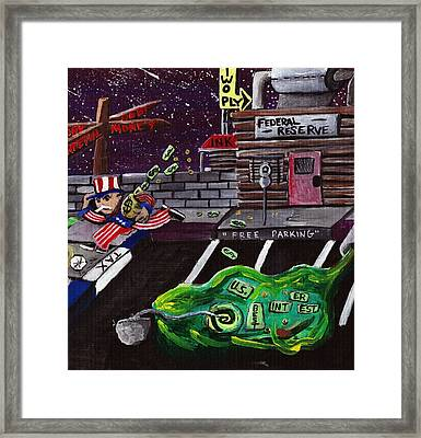 Take The Money And Run  Framed Print