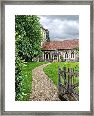 Take The Right Path - Church Framed Print by Gill Billington