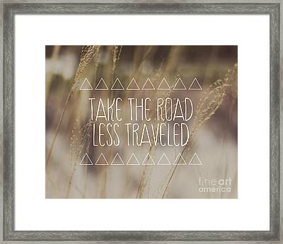Take The Road Less Traveled Framed Print by Jillian Audrey Photography