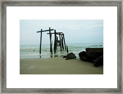 Taken By The Sea - 59th Street Pier Framed Print