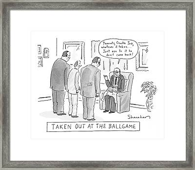Taken Out At The Ballgame Framed Print by Danny Shanahan