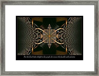 Takes Delight Framed Print