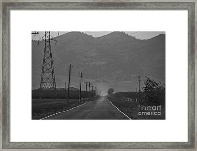 Takin' The Back Road Framed Print by Mitch Shindelbower
