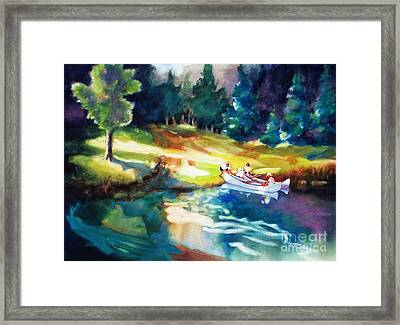 Taking A Break 2 Framed Print by Kathy Braud