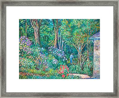 Framed Print featuring the painting Taking A Break by Kendall Kessler