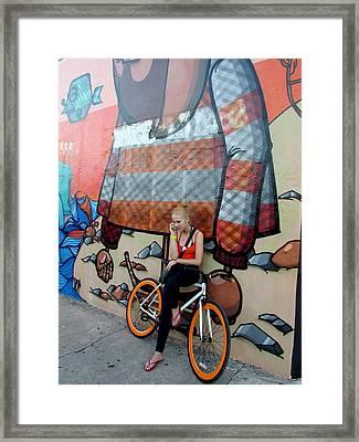Taking A Break Framed Print by Rosie Brown