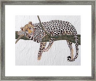 Framed Print featuring the painting Taking A Break by Stephanie Grant