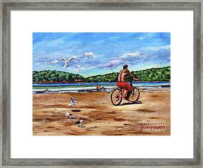 Taking A Ride  Framed Print