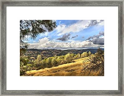 Taking A Ride Up Highway 32 Framed Print