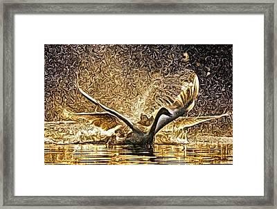 Taking Flight Framed Print by Art Diamond