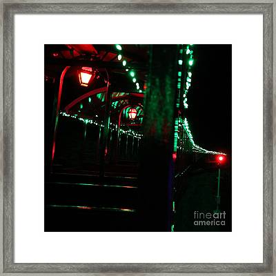 Taking In The Lights Riding The Rails Framed Print by Scott Allison