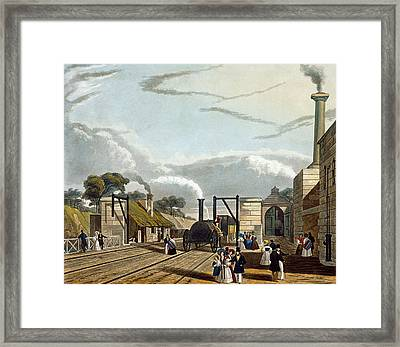 Taking In Water At Parkside, Plate 13 Framed Print by Thomas Talbot Bury