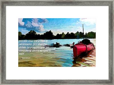 Taking It Easy Framed Print