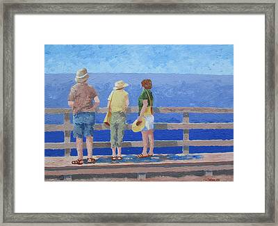Framed Print featuring the painting Taking It In by Tony Caviston