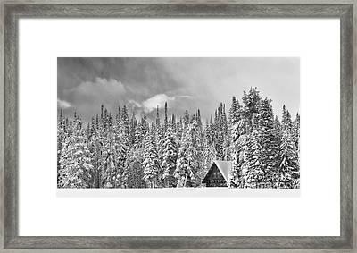 Taking Refuge - Grand Teton Framed Print by Sandra Bronstein