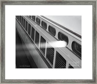 Taking The Bus In San Francisco Framed Print