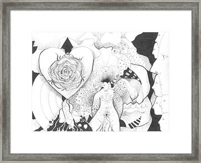 Taking The First Step Framed Print by Helena Tiainen