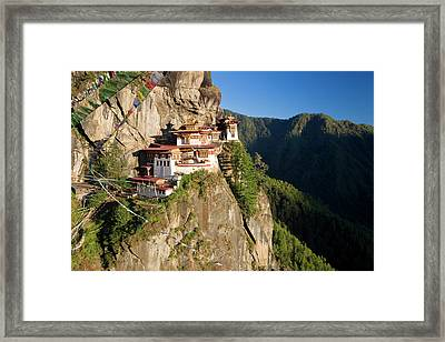 Taktsang Dzong (monastery Framed Print by Peter Adams