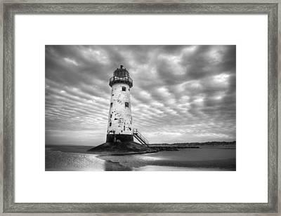 Talacre Lighthouse Monochrome Framed Print