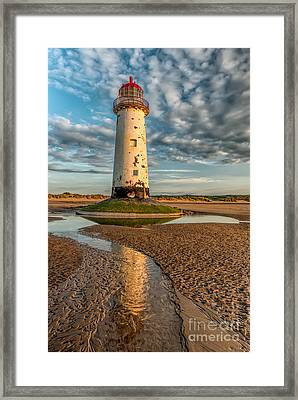 Talacre Lighthouse Sunset Framed Print