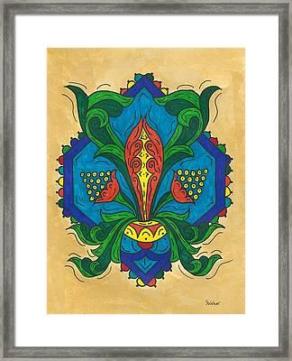 Talavera Flora Framed Print by Susie WEBER