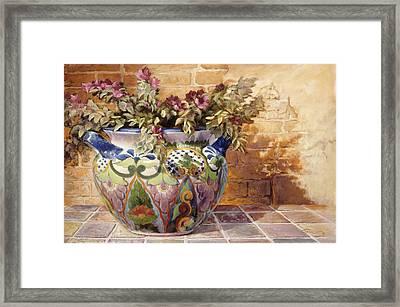 Talavera Morning Framed Print by Gini Heywood