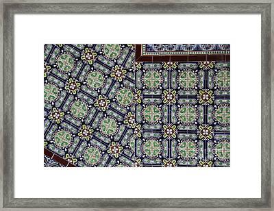 Talavera Tile Puebla Framed Print by Linda Queally