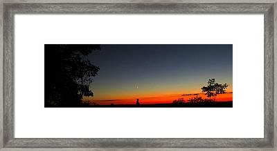 Talcott Mountain Sunset Framed Print by Stephen Melcher