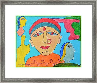 Tale Of Indian Woman I Framed Print by Sonali Gangane
