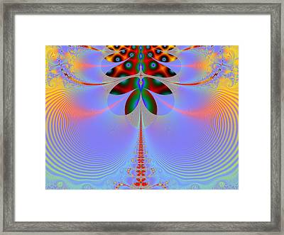 Tale Of The Dragonfly Framed Print