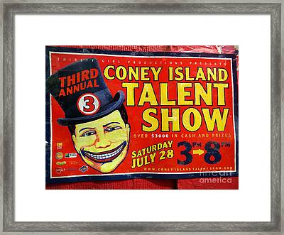 Talent Show Framed Print