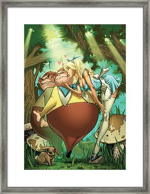 Tales From Wonderland Tweedledee And Tweedledum Framed Print