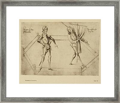 Talhoffer's Fencing Book. Framed Print